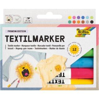 Stoffmalstifte 12 Stück in 12 Farben sortiert. Lieferbar Mitte August