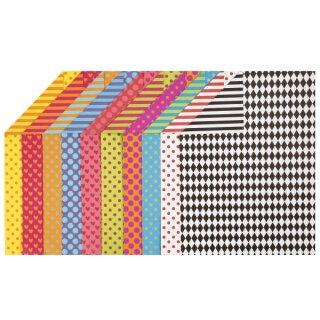 Motivkarton Colortime, 20 Bogen versch. sortiert, A4, 210 x 297 mm, 250 g