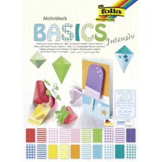 Motivblock Basics intensiv, 270 g/m², 24 x 34 cm, 20 Blatt