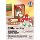 Glitterkarton Traditional, DIN A4, 5 Blatt sortiert in 5...