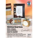 Glitterkarton Exclusive, DIN A4, 5 Blatt sortiert in 5...