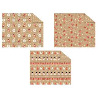 Motivkarton Christmas Time, 300g/m², 49,5 x 68 cm, 10 Bogen sortiert in 3 Motiven
