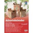 Adventskalender Wichtel, 24 Geschenkboxen sortiert in 3 Motiven