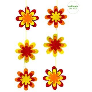 Bastelset Blütenhänger vorgedruckt, 10 Stück