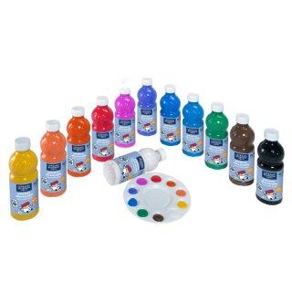 Auswaschbare Gouache Farbe von ColArt, 12 x 500 ml