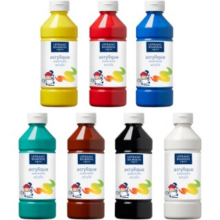Acrylfarben Set von ColArt, 10 x 500 ml