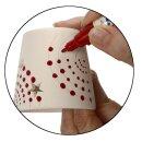 Teelichthalter mit Sternen aus weißem Terrakotta, 12 Stück