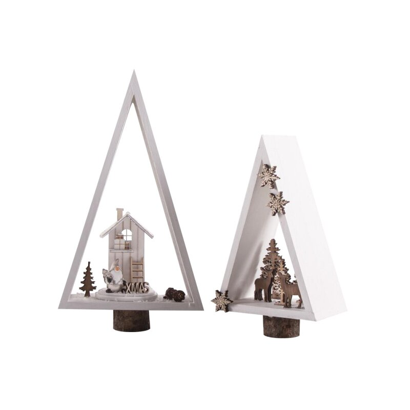 Holz Rahmen, Dreieck, 2 Stück, 6,75 €