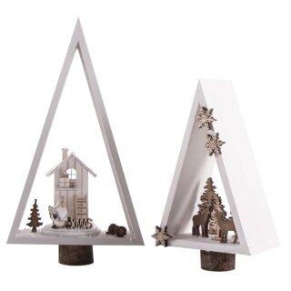 Holz Rahmen, Dreieck, 2 Stück