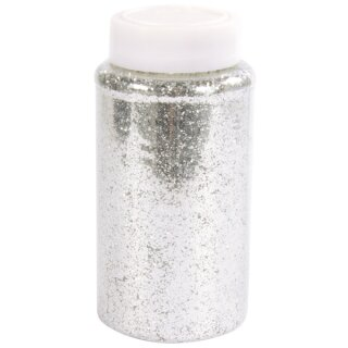 Streuglitter, silber, 500 ml