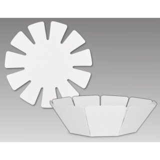Kartonform Korb, D: Boden ca. 11 cm, D: Rand ca. 20,5 cm 10 Stück,