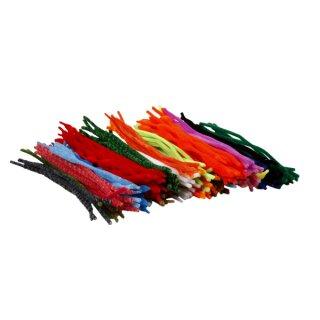 Chenilledraht Pfeifenputzer, versch. farbig sortiert, 500 Stück