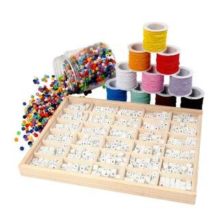 Armbänder Set aus Buchstabenperlen, für 80 Personen