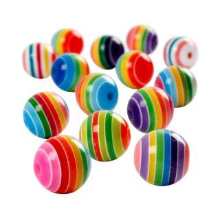 Perlen Multi Mix, D: 12 mm, 55 g, ca. 50 Stück
