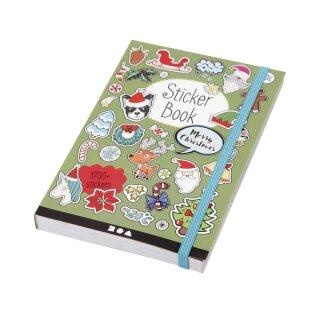 Sticker Buch Weihnachtsmotive, 76 Blätter, ca. 1700 Sticker