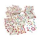 Mini Sticker, 100 Blatt à 24 Stück