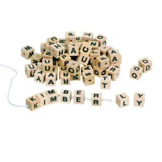 Holz Buchstaben Würfel Sortiment A - Z