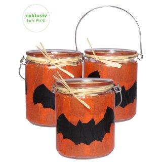 Bastelset Halloween Teelichte, 12 Stück
