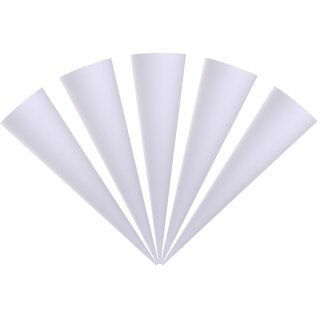 Schultüte weiß 5 Stück rund 70 cm lang