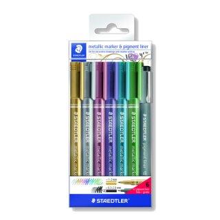 Metallic Marker 6 Stück und 1 Pigment liner