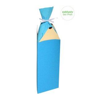 Bastelset Schultüte Bleistift blau