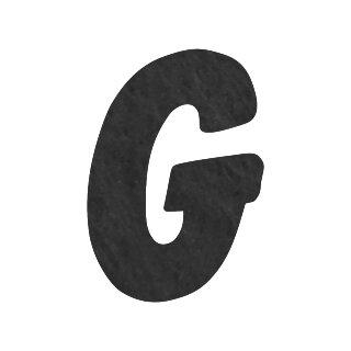 Filzbuchstabe einzeln, ca. 33 mm hoch, 1 Stück G in schwarz