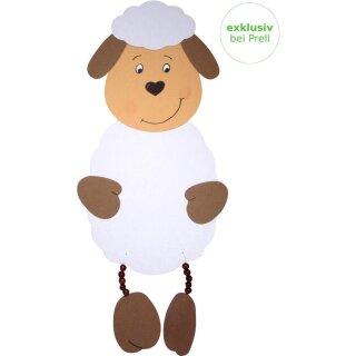 Bastelset Schaf mit Schlenkerbeinen vorgestanzt, 8 Stück