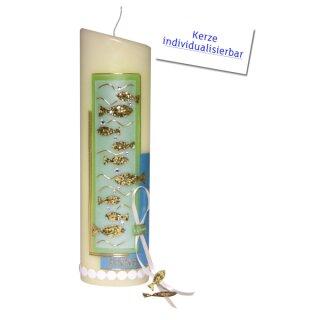 Taufkerze elfenbein, Fische