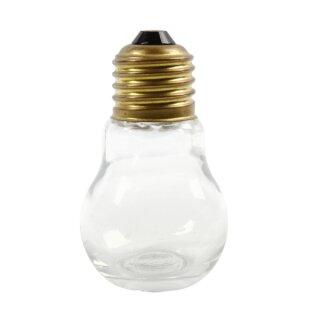 Deko Glühbirne aus Glas, 1 Stück