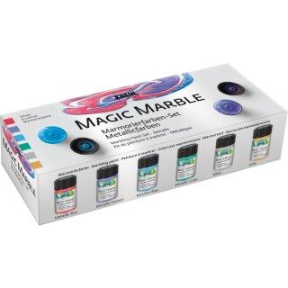 Magic Marble 6er Set Metallic Marmorierfarbe