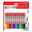 10er-Set Porzellan & Glasmalstifte KIDS Mega Fun,...