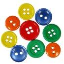 Knopfset Grundfarben, 40 g, ca. 130 Stück, 10 - 15 mm