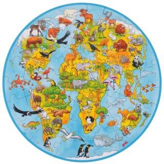 XXL Puzzle Welt 49 Teile Ø 45 cm
