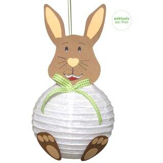 Bastelset Papierlampion Hase, 6 Stück