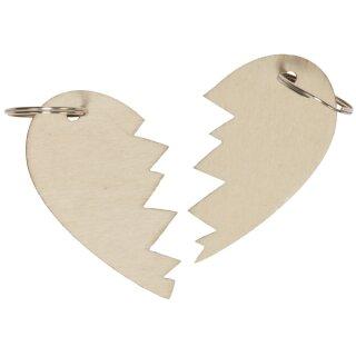 Schlüsselanhänger Set Herzhälften