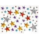 Glitzersteine Sterne, bunt sortiert, 50 tlg., selbstklebend