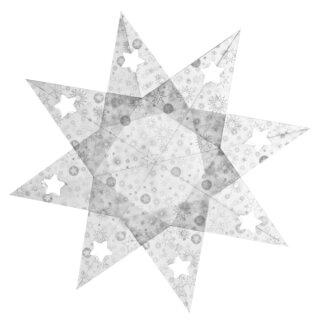 Faltblätter transparent Stardust 15 x 15 cm 33 Blatt,