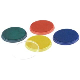 Stempelkissen rund, in 4 Farben sortiert
