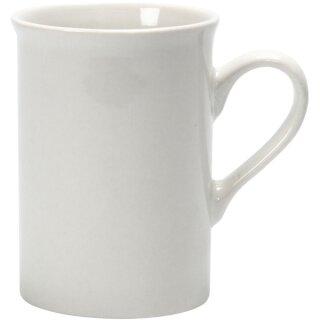 Becher Tasse, 1 Stück, aus weißem Porzellan