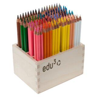 edu3 Junior hex Farbstift 192 Stück in 24 Farben sortiert