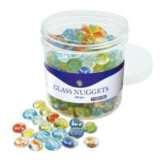 Glasnuggets, ca. 200 Stück im Eimer
