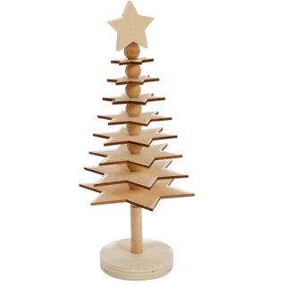 Bastelset 3D-Weihnachtsbaum ca. 10 x 23 cm