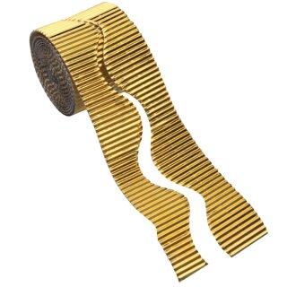 Wellpappe gold, 15 m auf Rolle, 50 mm breit