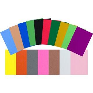Moosgummiplatten Set mit 170 Bögen in 17 Farben sortiert, voraussichtlich Ende Mai lieferbar