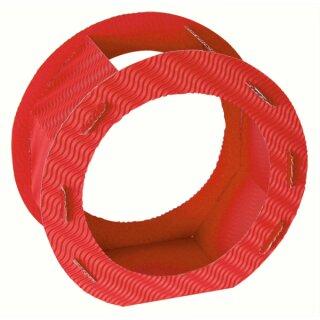 Rundlaternen Zuschnitt rot aus 3D-Wellpappe
