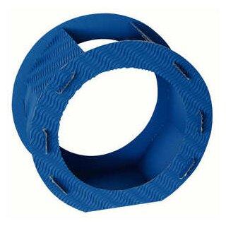Rundlaternen Zuschnitt blau aus 3D-Wellpappe