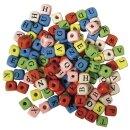 Holz-Buchstabenwürfel, 10x10 mm, SB-Btl. 50g, gemischt