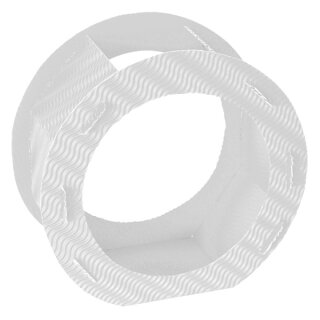 Rundlaternen Zuschnitt weiß aus 3D-Wellpappe