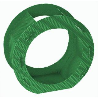 Rundlaternen Zuschnitt grün aus 3D-Wellpappe