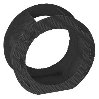 Rundlaternen Zuschnitt schwarz aus 3D-Wellpappe